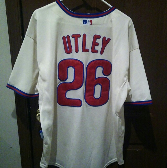 brand new 4c0a8 4a74c Chase Utley Philadelphia Phillies Jersey 54